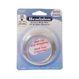 【ネコポス対応】Beadalon(ビーダロン) スクエアワイヤー ノンターニッシュシルバー 0.5mm×4m 24[M便 1/1]【A】【キャンセル・返品不可】