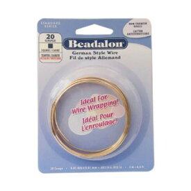 【ネコポス対応】Beadalon(ビーダロン) スクエアワイヤー ノンターニッシュブラス 0.81mm×2m 20[M便 1/1]【A】【キャンセル・返品不可】