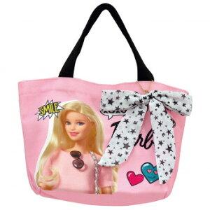 【クーポン&ポイント5倍 6/22 20:00〜6/26 1:59】【ネコポス不可】Barbie バービー リボン付き ランチトートバッグ サテン 31396【A】【キャンセル・返品不可】