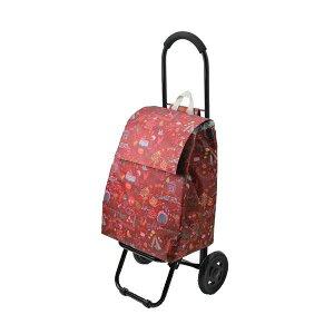 【ネコポス不可】CHARMISS ショッピングカート メルヘンチック柄 15-5016 レッド【A】【キャンセル・返品不可】