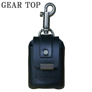 【ネコポス不可】GEAR TOP オイルライター専用 革ケース キーホルダー付 GT-211 BK【A】【キャンセル・返品不可】