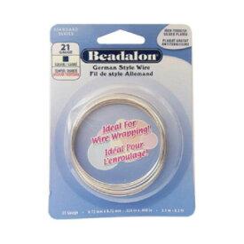 【ネコポス対応】Beadalon(ビーダロン) スクエアワイヤー ノンターニッシュシルバー 0.72mm×2.5m 21[M便 1/1]【A】【キャンセル・返品不可】