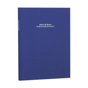 【ネコポス不可】ナカバヤシ ドゥファビネ100年アルバムブック式 A4ノビ ダークブルー アH-A4PB-181-DB【A】【キャンセル・返品不可】