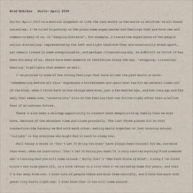 輸入盤 BRAD MEHLDAU / SUITE : APRIL 2020 [CD]