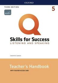 Q: Skills for Success 3/E: Listening and Speaking Level 5 Teacher's Book Guide with Teacher's Book Resource Access Code Card