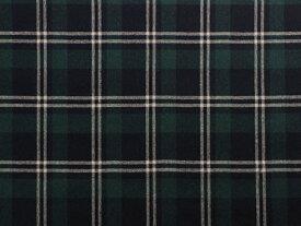 国産 ウール生地 タータンチェック カットクロス生地  50cm×約145cm ウールニット 手作り 縫製 羊 素材 バッグ 財布 ストール 膝掛け 羽織 クッション