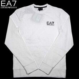 エンポリオアルマーニ EMPORIO-ARMANI メンズ EA7 クルーネック ロング Tシャツ 長袖 ホワイト 274138 3P231 00010 13S (R11800) 【送料無料】【smtb-TK】