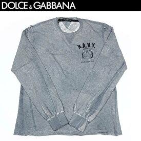 ドルチェ&ガッバーナ DOLCE&GABBANA メンズ ガゼット ネック カットソー ロング Tシャツ G9U97G G7HH8 S9000 13S (R48800)【送料無料】【smtb-TK】