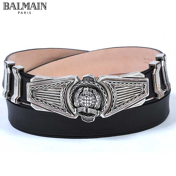 【送料無料】 バルマン(BALMAIN) メンズ レザー ベルト スーツ S3HT926C 170 176 【楽ギフ_包装】 13A