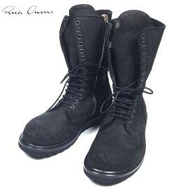 リックオウエンス RICK OWENS メンズ レースアップ ブーツ 靴 ブラック RU13F08004 LMS 13A (R178000)【送料無料】【smtb-TK】