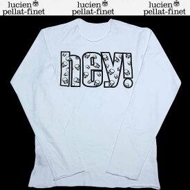 ルシアンペラフィネ lucien pellat-finet メンズ スカル 長袖 カットソー ロング Tシャツ ホワイト/グレー EVH 1293 13A【送料無料】【smtb-TK】