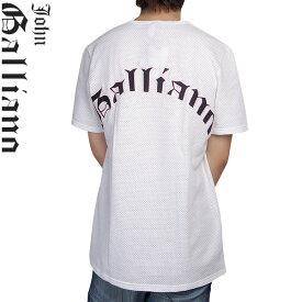 ジョンガリアーノ JOHN GALLIANO ベースボールシャツ 半袖 メッシュ生地 T31-H327-1100 ホワイト (R15523)【送料無料】【smtb-TK】