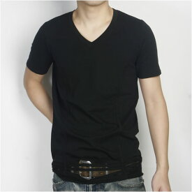 ジョンガリアーノ JOHN GALLIANO Vネック Tシャツ T47H102-2000-BK ブラック (R12800)【送料無料】【smtb-TK】