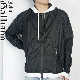 ジョンガリアーノ JOHN GALLIANO ジップアップ パーカー U11-H332 ブラック 黒 (R42325)【送料無料】【smtb-TK】