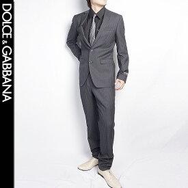 ドルチェ&ガッバーナ DOLCE&GABBANA メンズ スーツ セットアップ OS G1X2MT FR2NP S8051 ブラック グレー ストライプ (R199228)【送料無料】【smtb-TK】