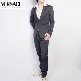 ヴェルサーチ ジーンズクチュール Versace メンズ スーツ セットアップ 20030 VJC ブラック 黒 (R128000)【送料無料】【smtb-TK】