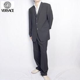 ヴェルサーチ Versace メンズ スーツ セットアップ 28F5XQ 6R210 000 ブラック 黒 (R146256)【送料無料】【smtb-TK】