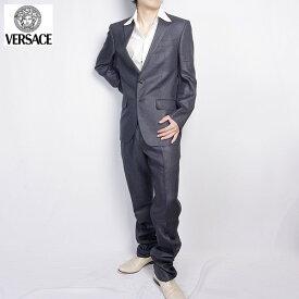 ヴェルサーチ Versace メンズ スーツ セットアップ 1114729 200VER グレー (R209821)【送料無料】【smtb-TK】
