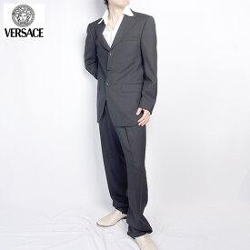 ヴェルサーチ Versace メンズ スーツ セットアップ 28ZDVG 646V07 A ブラック 黒 (R209821)【送料無料】【smtb-TK】