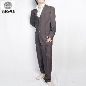 ヴェルサーチ Versace スーツ セットアップ 28WSVA 620W02 ブラック/ ブラウン (209821)【送料無料】【smtb-TK】
