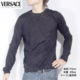 ヴェルサーチジーンズ Versace JEANS メンズ カットソー 長袖 シルクカシミヤ製 OV2804 81505 900 ブラック 黒 (R42200)【送料無料】【smtb-TK】