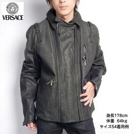ジャンニヴェルサーチ Versace メンズ レザー ジャケット36212 378 499ブラック 黒 (R558000)【送料無料】【smtb-TK】