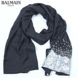 バルマン BALMAIN ストール スカーフ S47 JU50 0001 ブラック 黒 (R26328) 【送料無料】【smtb-TK】