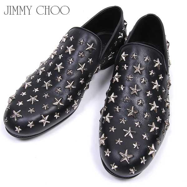* 【送料無料】 ジミーチュウ(Jimmy Choo) メンズ スリッポン ローファー 靴 SLOANE BLS BLACK 【楽ギフ_包装】【smtb-TK】 15A