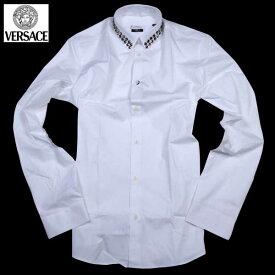 ヴェルサーチコレクション VERSACE メンズ ドレスシャツ ワイシャツ V300215 VT00027 V1001 61S【送料無料】【smtb-TK】