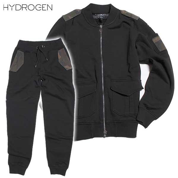 【送料無料】 ハイドロゲン(HYDROGEN)メンズ トラックジャケット スウェットパンツ セットアップ上下組 190620+190614 007 【楽ギフ_包装】【smtb-TK】【SALE1609】DB61A
