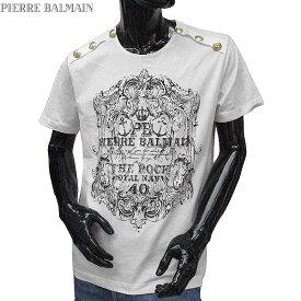 ピエールバルマン Pierre Balmain メンズ クルーネック 半袖 Tシャツ HP66215T A6285 003 71S【送料無料】【smtb-TK】