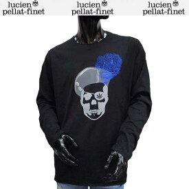 ルシアン ペラフィネ lucien pellat-finet メンズ スカル ロング Tシャツ 長袖 カットソー EVH1913 BLACK 71S (R124200)【送料無料】【smtb-TK】