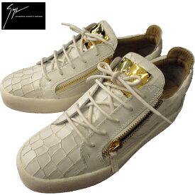 fbf2fecfcfa028 ジュゼッペザノッティ GIUSEPPE ZANOTTI メンズ クロコダイル調型押し ローカット スニーカー 靴 RU700001 72619 WH  81S