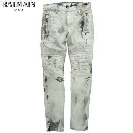 バルマン BALMAIN メンズ デニム ブリーチ パンツ S8H 9134 T149D 172 GRIS/GREY 81S【送料無料】【smtb-TK】