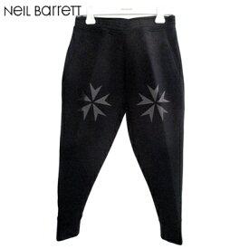 ニールバレット Neil Barrett メンズ パンツ ボトムス スウェットパンツ 膝プリントスウェットパンツ ブラック BJP97CH H504 01 21403001 81A (R77320)【送料無料】【smtb-TK】