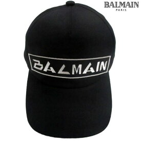 2019年秋冬新作 バルマン BALMAIN メンズ キャップ 帽子 ユニセックス可 サイズ調節可 BALMAIN刺繍ロゴ入りキャップ ブラック SH1A044 Z520 0PA (R43800) 91A【送料無料】 【smtb-TK】