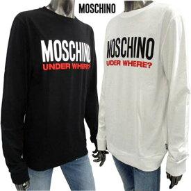 モスキーノ MOSCHINO メンズ トップス ロンT 長袖 ロゴ 2color ユニセックス可 MOSCHINOビッグロゴ入りロングTシャツ 白/黒 A1804 8127 1/555 (R21400) 91A【送料無料】 【smtb-TK】