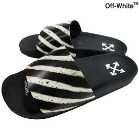 2020年春夏新作 オフホワイト OFF-WHITE メンズ 靴 サンダル ロゴ スラッシュロゴ・かかと部分アローロゴ入りシャワーサンダル ブラック OMIA088R 20C22052 1001 (R25300) 02S【送料無料】 【smtb-TK】