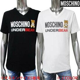 モスキーノ MOSCHINO メンズ トップス 半袖 Tシャツ 2color ベアーロゴ入りVネックTシャツ ブラック/ホワイト 1917 8103 0555 / 0001 (R18700) 02S 2020年春夏新作 【送料無料】 【smtb-TK】