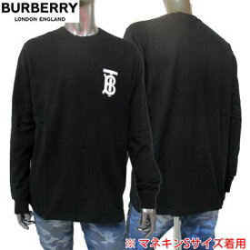 バーバリー BURBERRY メンズ トップス 長袖 Tシャツ ロンT 左胸部TBロゴ入りコットンロングTシャツ ブラック 8024599 P84105 A1189 (R66000) 02S 2020年春夏新作 【送料無料】 【smtb-TK】