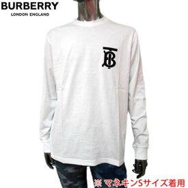 バーバリー BURBERRY メンズ トップス 長袖 Tシャツ ロンT 左胸部TBロゴ入りコットンロングTシャツ ホワイト 8024600 P84105 A1464 (R66000) 02S 2020年春夏新作 【送料無料】 【smtb-TK】