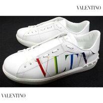 ヴァレンティノ(VALENTINO)メンズ靴スニーカーロゴVLTNグラデーション/レインボーカラーロゴ・かかと部分スタッズ付スニーカー白バレンティノバレンチノVY2S0830MLV08V(R83600)1212021年春夏新作【送料無料】【smtb-TK】