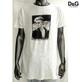 ドルチェ&ガッバーナ(DOLCE&GABBANA) メンズ Tシャツ カットソー 半袖 ロゴ DAVID BOWIE(デヴィッドボーイ)フォトプリントカットソー ホワイト G8V35T G7HR5 W0800(R24500) WA13S 【送料無料】 【smtb-TK】