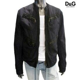 ドルチェ&ガッバーナ(DOLCE&GABBANA) メンズ ジャケット アウター マルチポケット付きジップジャケット ブラック G9N46T FUMSM (R119900) 12S 【送料無料】 【smtb-TK】