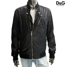 ドルチェ&ガッバーナ(DOLCE&GABANNA) メンズ ジャケット アウター バックロゴプレート付ナイロンジャケット ブラック G9706T FUMM5 N0000 (R100900) 12S【送料無料】 【smtb-TK】