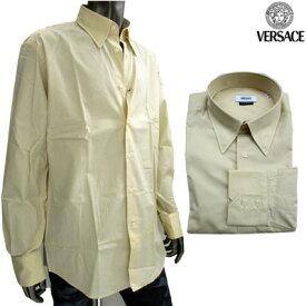 ヴェルサーチ(Versace) ワイシャツ 長袖 メンズ トップス ドレスシャツ カッターシャツ ビジネス おしゃれ 色違い(ライトグレー)あり ベージュ 黄色 GB11Y0 5Y300 272 (R20800)【楽ギフ_包装】【smtb-tk】 7S