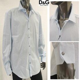 ドルチェ&ガッバーナ DOLCE&GABBANA メンズ シンプルデザインスーツ・カジュアルシャツ シンプル スーツシャツ ライトブルー ブルー G5AZ4T FUMRY B5833 (R32800) WA13S (R32800)【送料無料】 【smtb-TK】