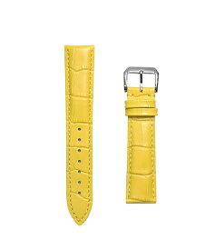 腕時計 ベルト 17mm レザー イエロー ピンインバックル シルバー n-ye-s 交換工具付属