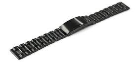 腕時計 ステンレス ベルト 14mm 16mm 17mm 18mm 19mm 20mm 21mm 22mm 23mm 24mm 26mm 黒 直カン 三つ折れ サイドプッシュ式バックル cs-b 交換 バンド