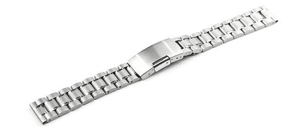 腕時計 ステンレス ベルト 14mm 16mm 17mm 18mm 19mm 20mm 21mm 22mm 23mm 24mm 26mm シルバー 直カン サイドプッシュ式バックル cs-sv 腕時計 バンド 交換